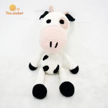New Design Handmade Crochet Cow Doll Baby Toy