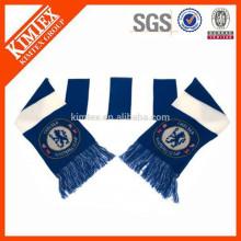Bufandas de acrílico hechas punto al por mayor de la barra del fútbol