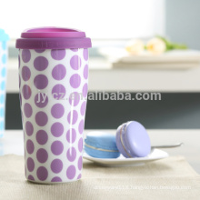 Popular silicone lid 16oz double wall mug