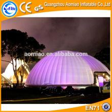 Cúpula de aire inflable tienda de campaña inflable de la tienda de campaña de la bóveda con la luz llevada