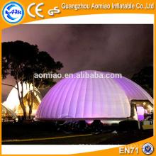 Tente gonflable au dôme air dôme tente gonflable avec lumière led