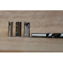 Metal crimp para cinto / cabo de metal fim para cadarço / metal alças para cinto