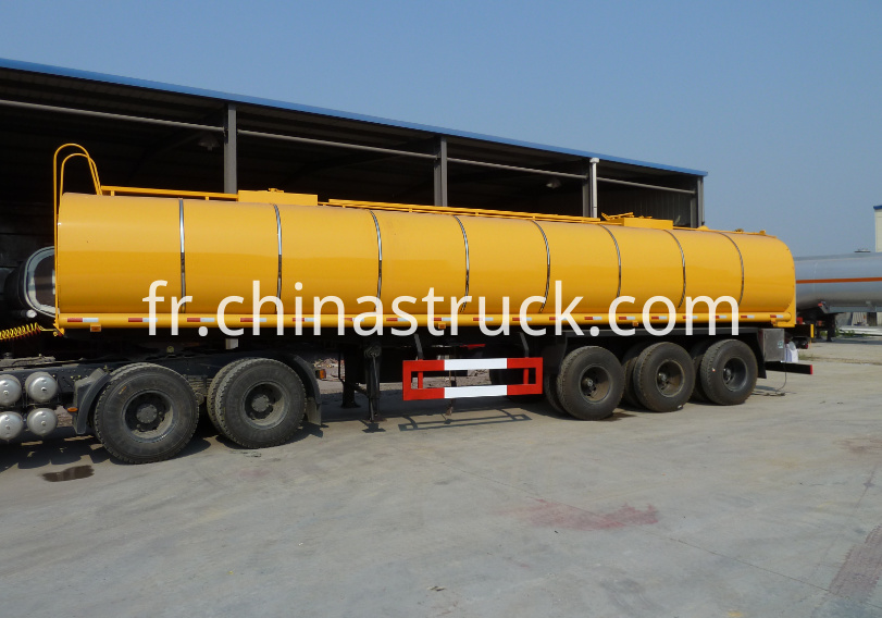 3 axle air suspension liquid asphalt tank