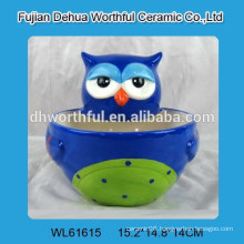 2016 popular big ceramic bowl with owl shape