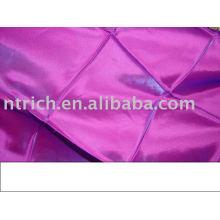nappe de pintuck, nappe de taffetas, couverture de table de polyester pour le mariage, banquet, hôtel