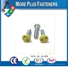 Made in Taiwan Security Screw Painted Head Snake Eye Hexagon Socket with Pin and Six Lobe with Pin Security Screw