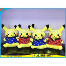 Горячий продавать мягкий симпатичный плюшевый Покемон плюшевые игрушки Пикачу иди кимоно для дня рождения Рождественский подарок