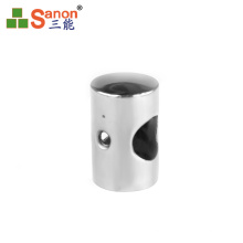 stainless steel balustrade connected fitting handrail pipe connector perpendicular joiner for pipe 16mm 19mm