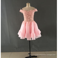 Mini Prom Dresses Real Photos Lace on Top with Appliques Beading Evening Gowns