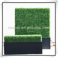 2015 venda quente plástico ivy cerca artificial parede verde para decoração