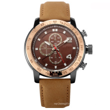 Genuine Leather Strap Fashion Man Wrist Watch