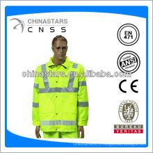 EN471 / ANSI hi viz прозрачный плащ из ПВХ