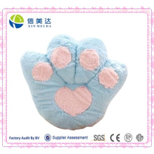 Atacado Blue Bear Paw Cushion / Pelúcia Fluffy Cashion