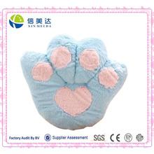 Venta al por mayor Azul Bear Paw Cojín / Plush Fluffy Cashion