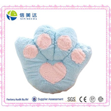 Big Blue Bear Paw Cushion/Plush Fluffy Cashion