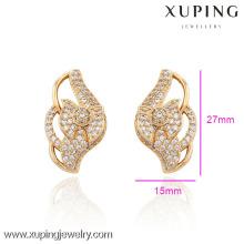 29754-Xuping bijoux mode vente chaude 18 carats plaqué or boucles d'oreilles