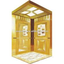 Gold Kabine Fahrgastaufzug ohne Maschinenraum (MRL)