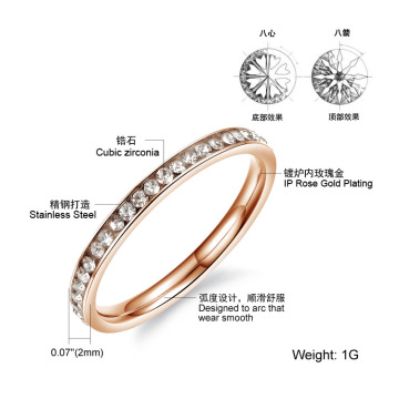 Hot Sell Three Colors Plated Zircon Engagement Ring