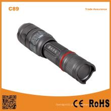 C89 Luz de mergulho recarregável Wateroroof LED mergulho lanterna
