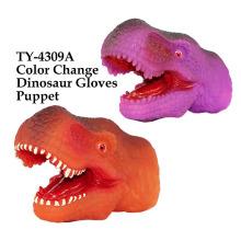 Lustige Farbwechsel Dinosaurier Handschuhe Marionette