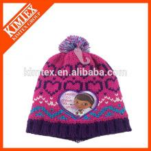 Nueva fábrica de acrílico de la fábrica de los sombreros del bebé de la muchacha encantadora