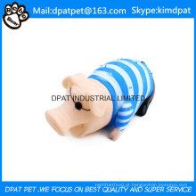 China Pet produtos de látex Pink Pig Dog Toy
