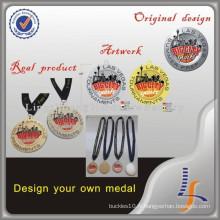 Médaille faite sur commande de basket-ball de prix usine avec le ruban