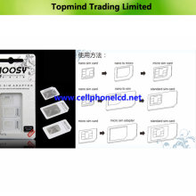 3 in 1 Noosy SIM Adapter for iPhone 4 4s 5 Samsung I9500