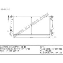 Radiador automotivo de alumínio fornecedor da China para Toyota Celica′99-00 Mt