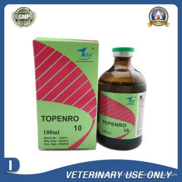 Medicamentos Veterinários de Injecção de Enrofloxacina a 10% (50ml / 100ml)