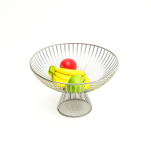 Wholesale Metal Wire Storage Baskets Iron Table Organizer Vegetable Mesh Bowl Kitchen Storage Metal Fruit Basket