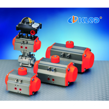 Pneumatic control double acting ball valve butterfly valve actuator