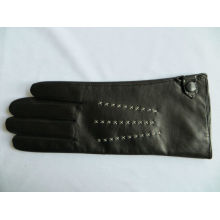 2013 hot sale mature lady leather top gloves