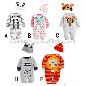 2016 autumn wear 100% cotton soft unisex long sleeve baby romper with cheap price