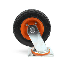 6 inch heavy duty flat plate swivel inflatable casters wheel