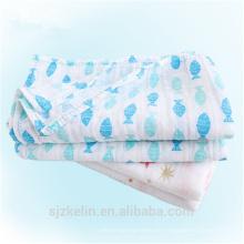 Hecho en China bebé manta envolvente de muselina 100% algodón Hecho en China bebé manta swaddle de muselina 100% algodón
