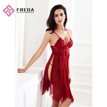 factory low price for Transparent Lingerie Dress Exotic Body Lingerie Babydoll Lace Cup Bra-dress G-string supply to Indonesia Manufacturers