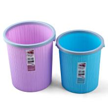 Cubo de basura redondo redondo plástico con el lazo