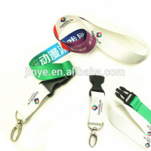 Benutzerdefinierte Logo Hitze Druck Nylon Hals Keychain Strap