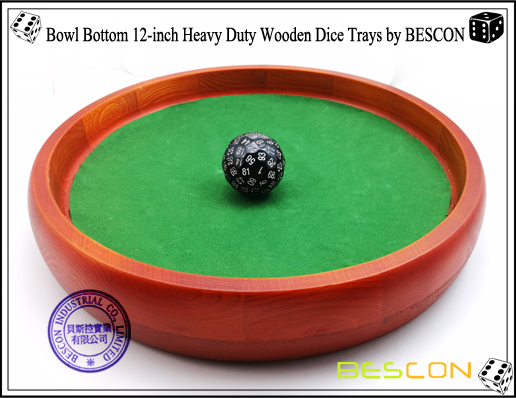 Bowl Bottom 12-inch Heavy Duty Wooden Dice Trays by BESCON-1