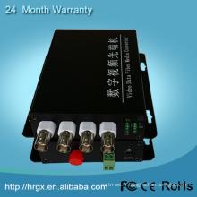 Bon prix 4 canaux fibre optique convertisseur vidéo rs232 à rs485 convertisseur d'interface