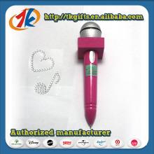 Microphone Shaped Ball Point Pen and Gem Sticker Sheet