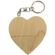 Promotional Gifts Wood USB Stick Wooden Heart Shape USB Flash Drive 8GB Bamboo USB Memory Sticks
