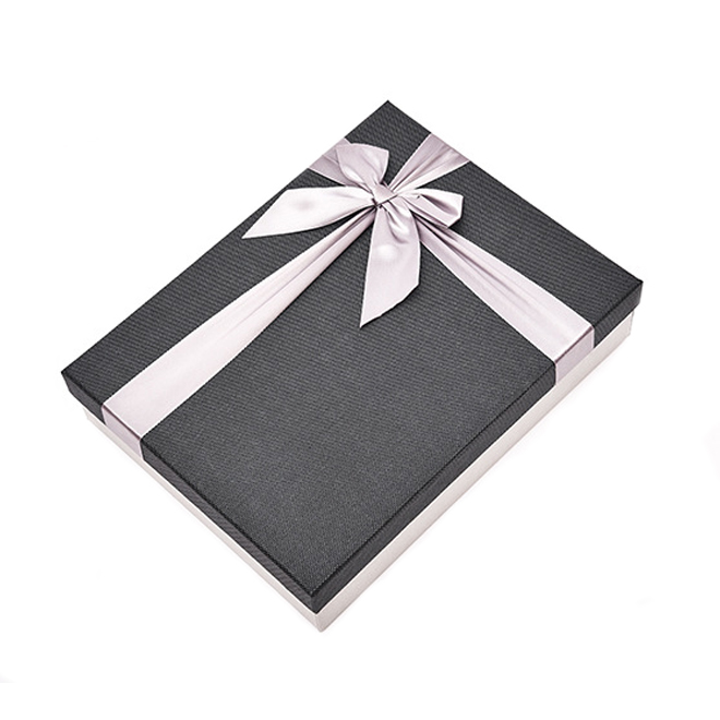 Fancy Paperboard Gift Box With Ribbon