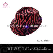 Sombrero del partido del leopardo LED