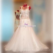 RSW789 sirena ver a través de corsé en forma de corazón de nuevo vestido de novia sexy 2016