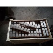 Cr26 C15Mo Eimer Zahn Hardface Schneidkante / Messer Kante / Trageknopf / Trageblock / Trageplatte / laminierte Platte