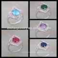 Silber Schmuck Preis von 1 Karat Diamant Zinke Einstellung Ring für Frauen