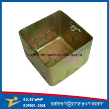 Custom Metal Fiber Optic Junction Box with Yellow Zinc