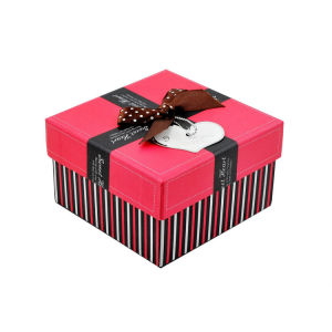 Ribbon Bow Glued on TOP Watch Packaging Box